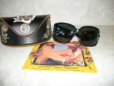 New Ed Hardy Sunglasses with case and box and RHINESTONES!