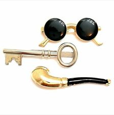 NEW 3 Pcs Set of Tie Clips Novelty Necktie Bar Clasp Clamp Pin Party Wedding