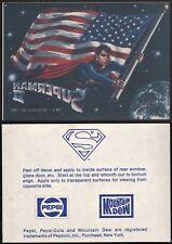 Superman II Decal Pepsi Mountain Dew 1980