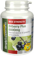 Bilberry Plus 6000mg 180 Tablets   Healthy Vision Eye Health Supplement