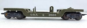 Marx Trains 2824 Army Center Depressed Flat Car Missile Launcher for Parts