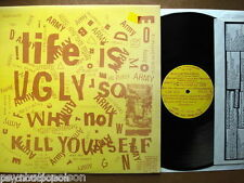 LIFE IS UGLY SO WHY NOT KILL YOURSELF LP  NU-11 MINUTEMEN RED CROSS ANTI URINALS