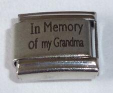Encanto italiano en memoria de mi abuela con simpatía Amor gran encaja 9mm Pulseras