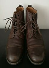 Mens Paul Smith Brown Leather Ankle Boots Made in Italy - UK 8