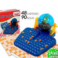 BINGO LOTTO MANUAL de 90 BOLAS números 48 CARTONES JUEGO SUERTE FAMILIAR DE MESA