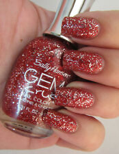 NEW! Sally Hansen GEM CRUSH Nail Polish Lacquer CHA-CHING! #02 Vampy Red Glitter