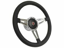 1969 - 1994 Oldsmobile / Slot Spoke Leather Steering Wheel, Hub & Button