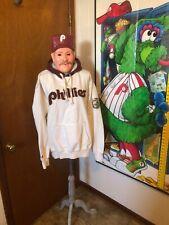 Majestic Retro Philadelphia Phillies Hoodie XL Phanatic Jacket Cooperstown ⚾️
