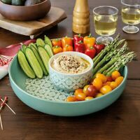 Over and Back Easy Living 2-piece Chip and Dip Serving Set, PICK COLOR, NEW