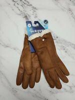 Isotoner Women's SmartDri Microfiber Glove with SmartTouch Technology Brown S/M
