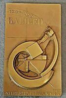 GIO' POMODORO scultura Bronzo placchetta Galileo Galilei  Università Padova 1992