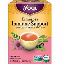 YOGI TEA ECHINACEA IMMUNE SUPPORT (16 bags x 6 box) Supports Immune Function NEW