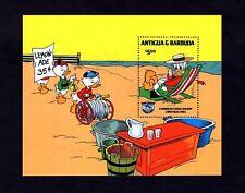 Antigua - 1984 - Disney - Donald Duck - Caribbean - Beach + Mint Mnh S/Sheet!