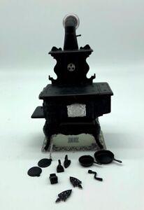 Vintage 1:12 Scale Chrysonbon Black Cook Stove
