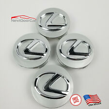 "Grey Chrome Lexus Center Caps 62mm Hub Caps 2.5"" All 2006-2019 Lexus Models"