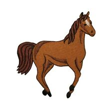 ID 0726Y Wild Horse Running Patch Farm Animal Mare Embroidered Iron On Applique