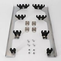 DEEPSOUND Chrome Linear Spark Plug Wire Separators Divider Loom Black Valve Cover for SBC 350