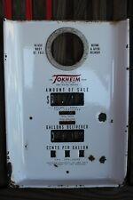 Vintage Tokheim Gas Pump Porcelain Face Plate Ft Wayne Fast Shipping!