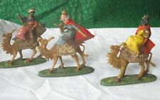 3 Vintage Nativity Pieces--Wise Men on Camels  (Italy)