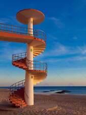 Escalier colimaçon beach saint maria cadiz photo fine art print poster BMP130B