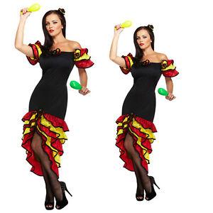 Ladies Rumba Fancy Dress Book Week Spanish Womens Flamenco Dancer Costume Outfit