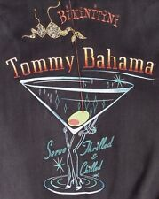 "~TOMMY BAHAMA MENS sz M 100% SILK EMBROIDERED ""BIKINITINI"" S/S SHIRT~ 47"" CHEST"