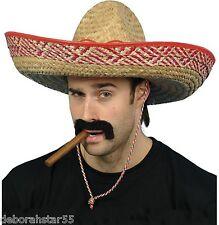 Adulto large Mexican SOMBRERO Cappello di paglia Addio Al Celibato Costume  Vestito KIT 0cab762ed253