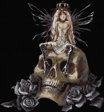 Fairy On Skull Counted Cross Stitch Kit. Fantasy/Fairys/Goth