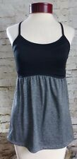 Champion Black Gray Loose Exercise Top Built in Bra Women's Size Small