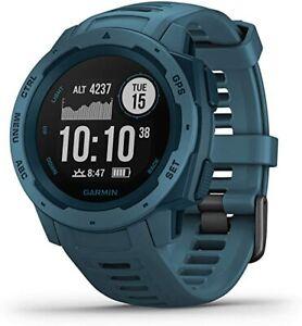 Garmin Instinct Rugged Fitness Watch - Lakeside Blue 010-02064-04 (FEDEX 2 DAY)