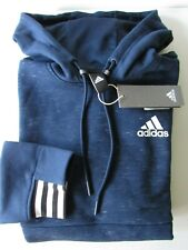 ADIDAS Navy Pullover Drawtring Hoodie Mens size S FREE SHIPPING