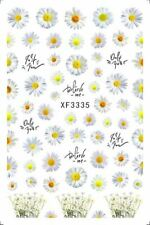 Beautiful White Floral Nail Stickers XF3335