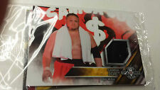 2016 TOPPS WWE Samoa Joe Card NXT Londres Takeover Authentic Mat Relic