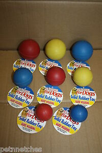 CLASSIC SOLID RUBBER BALL DOG  TOY , SMALL MEDIUM LARGE