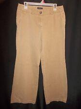 LANDS' END BUCKSKIN Khaki Slacks Pants Women's Size 8