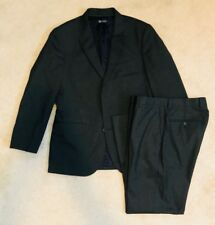 Men's JCrew Aldridge Full Suit Dark Gray Wool: Jacket: 38s Pant: 30 x 28 16564