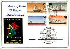 1977 Messe Villingen Schweniningen Vignette Stempel Jugendmarken Schiffe Boote
