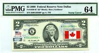 $2 DOLLARS 2009 STAR STAMP CANCEL FLAG OF UN FROM CANADA LUCKY MONEY $5000