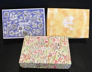 Lot of 3 Empty BirchBox Boxes Decorative Gift Craft Box with Tissue Storage