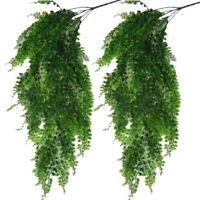 2 Packungen Künstlich Efeu Girlande Laub Grün Blätter Fake Hängende Rebe Pflanze