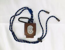 🔥Coach Wireless Earbud/ Airpods Case With Lanyard & Carabiner #79726 Saddle
