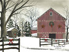 Art Print, Framed, Plaque By Billy Jacobs - Christmas Barn - BJ147