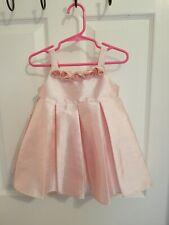 Infant Girl Disney Pink Dress With 5 Small Roses And Pleats Size 18 Mos.