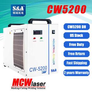 Genuine S&A CW-5200DG / DH Water Chiller 100W 130W 150W 180W CO2 Laser Tube FDA