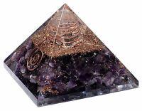 Extra Large 70-75mm Amethyst Pyramid Stone Orgone Gemstone Reiki Crystal