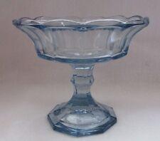 FOSTORIA GLASS BLUE STEMMED COMPOTE