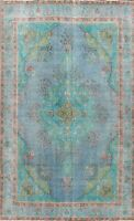 Antique Floral Tebriz Hand-knotted Area Rug Medallion Oriental Wool Carpet 8x11