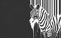 Black And White Zebra Animal Modern Wall Art Large Poster & Canvas Pictures