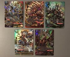 FUTURE CARD BUDDYFIGHT DEITY GARGANTUA DRAGON S-CBT01 SECRET SET (5 CARDS)