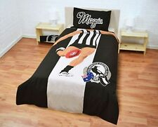 AFL Collingwood Magpies Player Single Doona - quilt Cover Set  REG POST